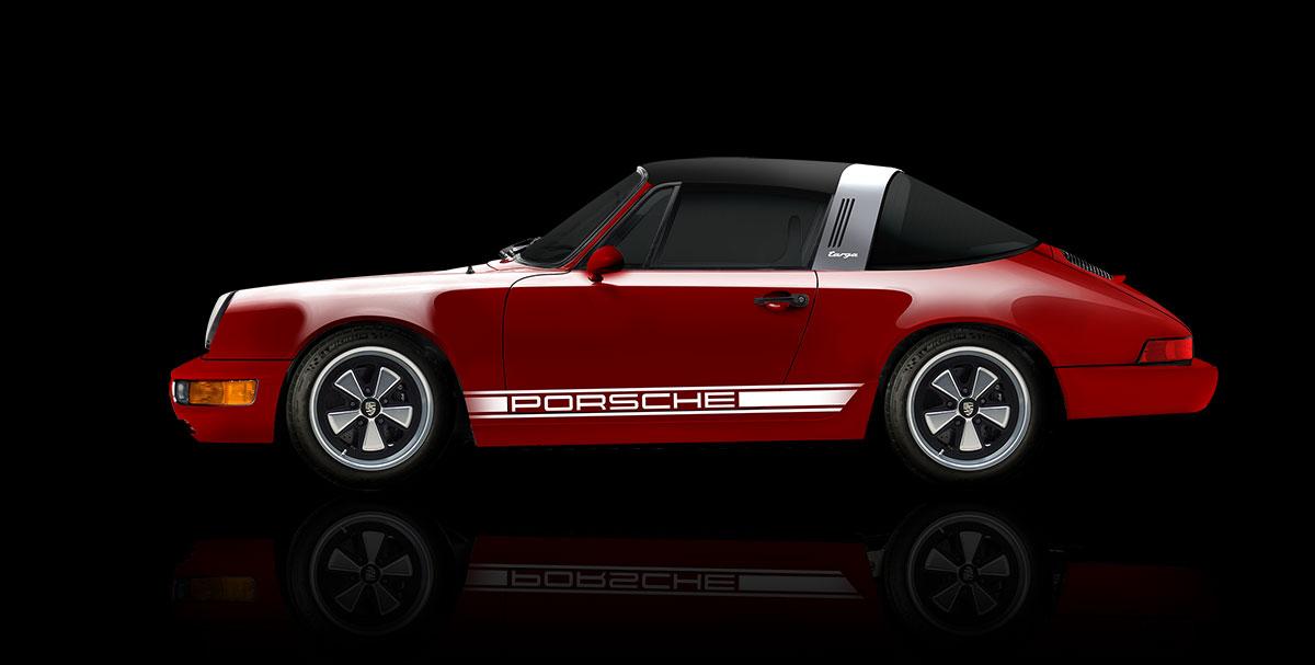 Electric Porsche 911 Targa